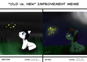 Old vs New Improvement MEME by jaykanamoor