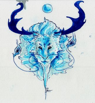 INKTOBER day 14 : Blue by JeanTaty