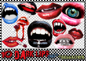 Dark Lips PNGs by Bellacrix