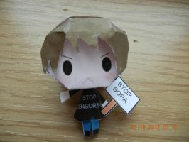 Stop Censorship- Anti-SOPA Chugga Papercraft by PuellaMagiKazumi