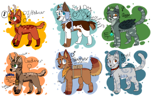 Big Batch Adoptables *CLOSED* by FriendFry