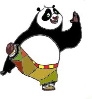 Panda Po- Colored by BenJJedi