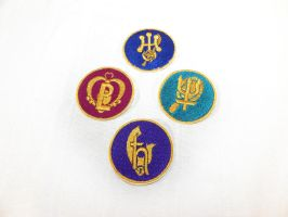 Outer senshi crystal henshin patches by starlit-creations