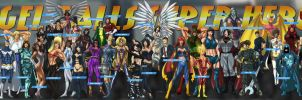 Updated AngelFalls Superheroes by Sean-Loco-ODonnell
