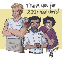 200 Watchers by TheStupidFox