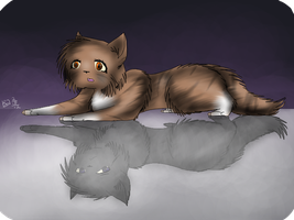 Leafpool and Crowfeather (Remake, +Speedpaint) by Amerikat