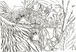 Vampire Knight Fan Art: Yuki and Kaname Uncolored by DreamscapesandWishes