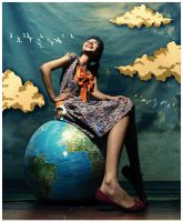 WORLD AT HER FEET by TOYIB