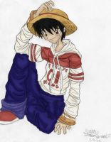 Luffy doodle by Dreamwish