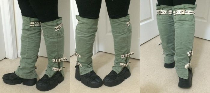 Re-purposed Pants Leg-Warmers by bl4ckr41nb0w