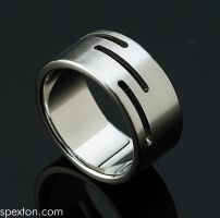 Saw Cut Ring by Spexton