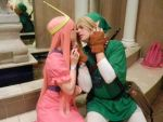Princess Bubblegum and Link!! by Dokizoid