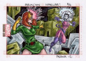 Jean Grey vs Oracle - Marvel Bronze Age by tonyperna