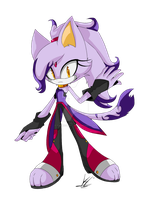 .:Blaze the Cat: Re-Design:. by VaniHedgehog