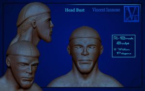 Head Bust High Poly by DeaconStone