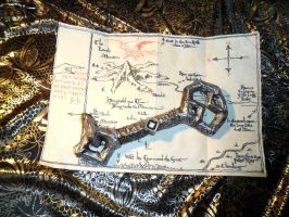 The Key and the Map of Erebor - handcrafted by selva-s