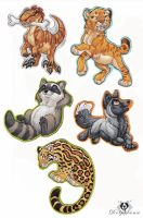 More Animal Magnets by DolphyDolphiana
