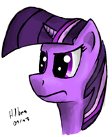 Quick Twilight Sparkle Drawing by caffeinejunkie