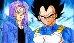 Vegeta and Trunks by Jaylastar