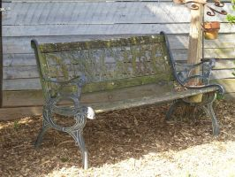 old park bench by Irie-Stock