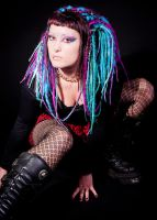 cyber dreads and makeup by we-will-break