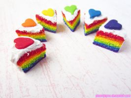 Rainbow Cake Charms! by kpossibles
