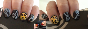 Hunger Games Nails by OtakuRose