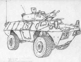 US Military vechicle in Iraq 2 by BROKENHILL