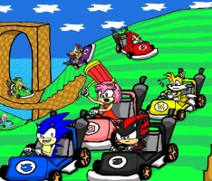 Sonic kart by doodle-guy7