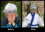 Nasubi wig before and after by Lightofatunnel