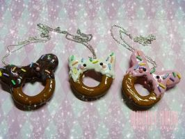 Animal Donut Necklaces by ImperfectKawaii