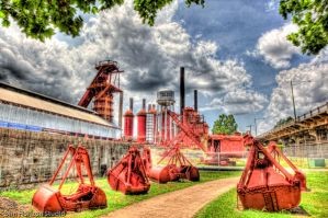 Sloss Furnace in HDR by DimHorizonStudio