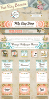 Free Vintage Etsy Banners by starsunflowerstudio