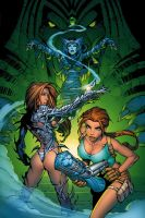 Witchblade and Tomb Raider by RandyGreen