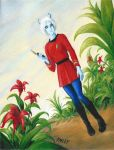 Andorian Female Starfleet Officer by JSPailly