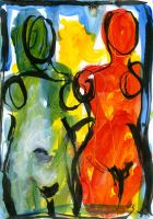 Deux Figures 11 by gilbertlayole