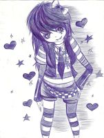 Emo girl sketch by sukina-chan