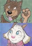 Gabu and Mei ACEO's by marymouse