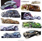 Random car sketches 1 by Rykunov