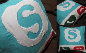 Skype Pillow by hexsy