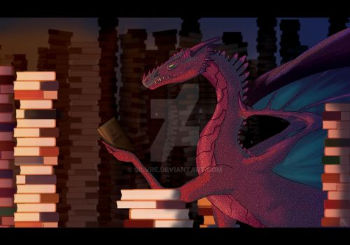 Book Dragon by Silvre