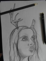 Wild Deer Girl by GalaxyStarzDesign