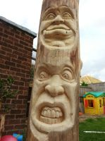 kids totem pole by simon patel by simondrawme