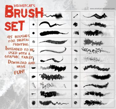 Velvetcat's Brush Set by Vindrea