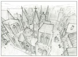 Cathedral drawing by jimmyjimjim