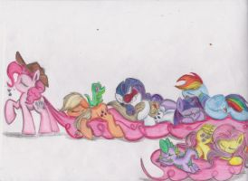 Sleeping Time! (In color) by Deihiru