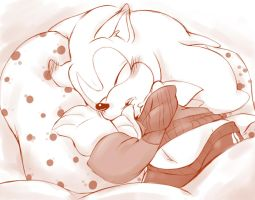AMS:: Sleeping Sonic by Foxie-sonadowlover