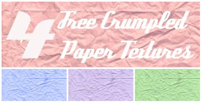 4 HD crumpled tissue paper textures by amuratake