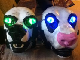 Resin blank commission Rehv pair by ShaggyGriffon