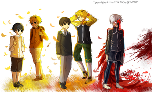 Tokyo Ghoul Tumblr doodle by FireFly-Rain